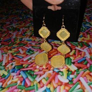 saucy moonchild fashion house Jewelry - BOGO🔥NEW🎀 gold & yellow dangle 🌞 gem earrings